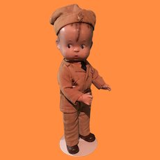 Effanbee Military Skippy Composition Doll ~ Magnet Hands ~ Factory Original