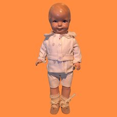 """1927 Grace Corry Rockwell """"Little Brother"""" Composition Doll ~ very cute"""