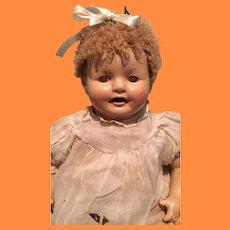 "Precious 23"" Composition Baby Doll w/ Curacal Hair ~ Factory Original"
