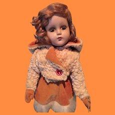 "14"" Nancy Lee Skater Composition Doll ~ Factory Original w/ Box"