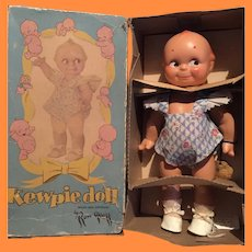 Rose O'Neill Tagged Kewpie Composition Doll w/ Box for Cameo