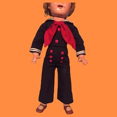 """Shirley Temple Captain January Custom Outfit for 25"""" Composition Doll"""