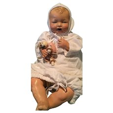 """Effanbee Bubbles 20"""" Composition Baby Doll"""
