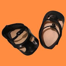 Extra Wide Oil Cloth Shoes for Large Composition or Bisque Doll