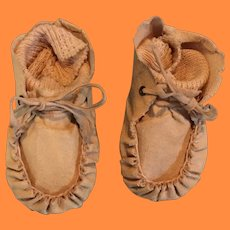 Oil Cloth Booties for Composition or Bisque Doll