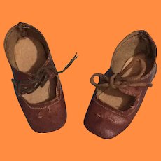 Nice Early German Shoes for Bisque or Composition Doll