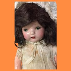 "Very Pretty 22"" Composition Mama Doll ~ Fiberoid"