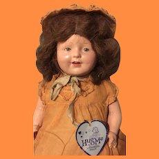 "Factory Original 20"" Tagged Hug Me Kiddie Pal Composition Mama Doll ~ Pretty"