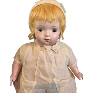 """Early Pretty Factory Original 19"""" Composition Mama Doll"""