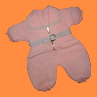 """Authentic Effanbee Dy-Dee Pink Eiderdown Snowsuit for 15"""" Baby Doll ~ Precious"""
