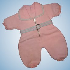 "Authentic Effanbee Dy-Dee Pink Eiderdown Snowsuit for 15"" Baby Doll ~ Precious"