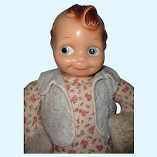 Rare HUGE Cheerful Cherub Composition Doll by J. Kallus ~ Kewpie