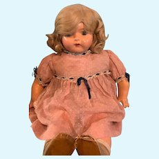 Blonde Dolly Reckord Talking Phonograph Composition  Doll ~ A Real Beauty and Works!