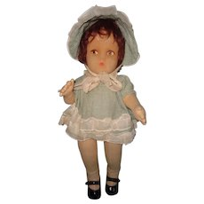 Large Lenci Type Cloth Molded Face Doll ~ TAGGED Knickerbocker