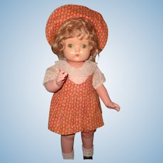 Effanbee Wigged Composition Patsy Ann Doll in HTF Outfit