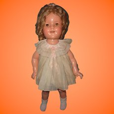 "Ideal 18"" Shirley Temple Composition TLC Doll ~ Fixer-upper"