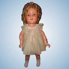 """Ideal 18"""" Shirley Temple Composition TLC Doll ~ Fixer-upper"""
