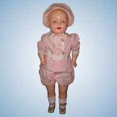 "Rare Factory Orig. 28"" Baby Dimples Toddler Composition Baby Doll by Horsman"
