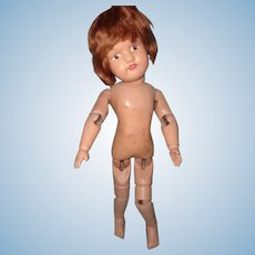 "15"" Schoenhut Wood Doll"