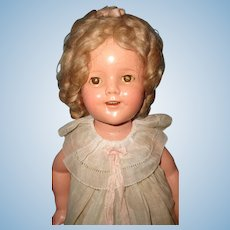 """Ideal Shirley Temple Composition 18"""" Doll ~ Great Wig"""