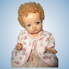 Precious Effanbee Patsy Babyette Composition Doll w/ 2 Original Outfits & Bunting
