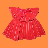 """Shirley Temple Pleated Party Dress for 11"""" Ideal Composition Doll"""