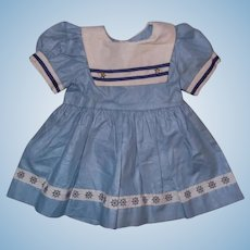 Lovely Sailor Theme Dress for Bisque or Composition Doll