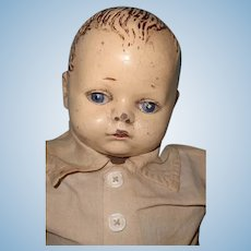 "Early 17"" Composition Baby Boy Doll ~ Shabby Chic Look"