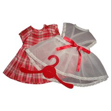 """Authentic Tiny Tears School Dress w Pinafore for 11"""" Baby Doll"""