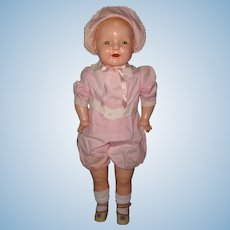 "Factory Original 28"" Dimples Toddler Straight Leg Composition Baby Doll ~ Huge and Chunky"