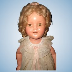 "Ideal Shirley Temple 18"" Composition Doll ~ in Tagged Dress"