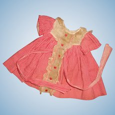 Authentic Ideal Shirley Temple CHERRY Dress for Composition Doll