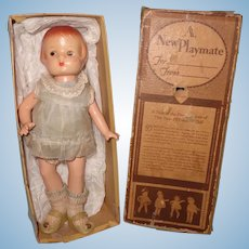 Boxed Factory Original Patsyette Composition Doll by Effanbee