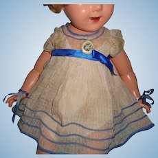 """Authentic Ideal 27"""" Shirley Temple Dress w/ Slip and Pin ~ TLC"""