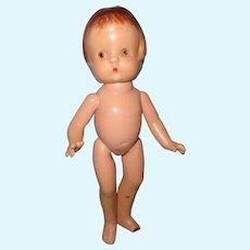 "Effanbee Patsy Jr. 11"" Composition Doll ~ TLC Parts or Repair"