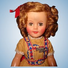 "Ideal 15"" Shirley Temple 1950s Vinyl Doll ~ Pretty"