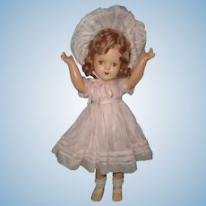"Factory Original 20"" Madame Alexander Composition Doll ~ Pretty in Pink"