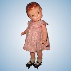 "Effanbee Patsy Ann 19"" Composition Doll w/ Roller Skates"