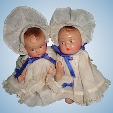 Set of (2) Dionne Quint Type Baby Dolls ~ Factory Original
