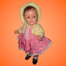 "Molded Hair Dionne Quint 15"" Toddler Baby Doll by Madame Alexander"