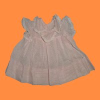 Authentic Effanbee Dy-Dee Baby Pink Swiss Dot Dress