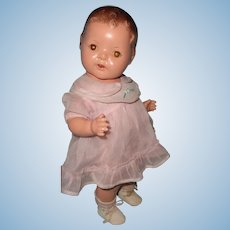 "14"" Dream Baby Straight Leg Toddler Composition Doll ~ Factory Original"