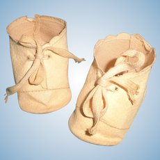 """Authentic Effanbee Oil Cloth Shoes for 20"""" Composition Baby Doll ~ Scroll design"""