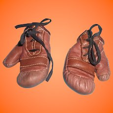 "Authentic Effanbee Candy Kid ""The Champ"" Composition Boxing Gloves"
