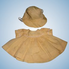 Sunny Yellow 2 Pc Dress Set for your Smaller Baby Doll