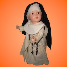 "Beautiful 17"" Nun Composition Doll"