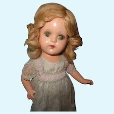 """Princess Elizabeth 13"""" Composition Doll by Madame Alexander in Tagged Gown"""