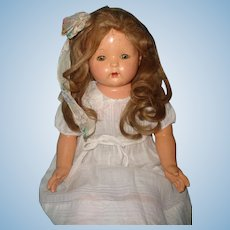"Effanbee 30"" Mae Starr Talking Phonograph Composition Doll w/ Cylinder ~ WORKS!"