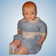 """Precious 21"""" Effanbee Sugar Baby Composition Doll in Tagged Outfit"""