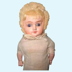 """Early 12"""" Factory Original Composition Doll ~ Glass Eyes"""